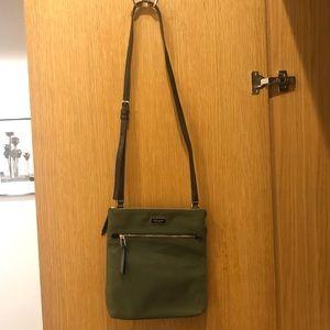 NWOT Real Kate Spade army green strap bag
